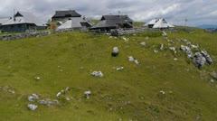 AERIAL: Alpine village Stock Footage