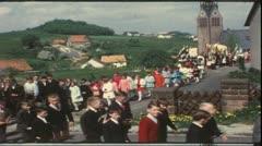 Vintage 8 mm film: Catholic procession, Germany, 1960s Stock Footage