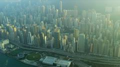 Aerial View Causeway Highway Hong Kong  Stock Footage
