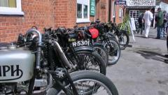 Vintage Motorcycle Show Stock Footage