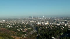 Panorama of Los Angeles as viewed from Mulholland Drive. (California, USA) Stock Footage