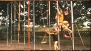 Stock Video Footage of Vintage 8 mm film: Children gymnastics, Germany, 1960s
