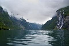 Norway ,Seven Sisters Waterfall Stock Photos