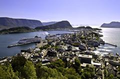 Norway, Alesund  Panorama - stock photo