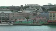 Aerial view of the city town in Bahamas Stock Footage