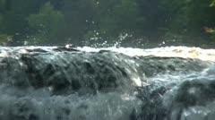 Splashing Water on Waterfall - stock footage
