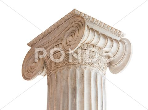 Stock photo of Classical column capital on white