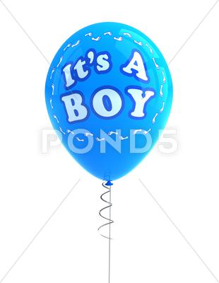 Stock Illustration of it's a boy party balloon