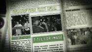 Stock After Effects of Newspaper Collage