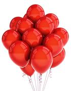 Red party ballooons Stock Photos