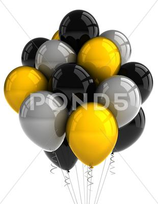 Stock photo of party balloons