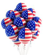 usa patriotic balloons - stock illustration