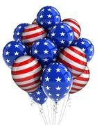 Patriotic balloons Stock Illustration