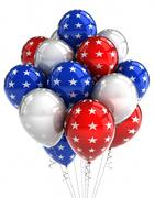 patriotic balloons - stock illustration