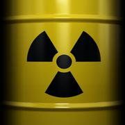 radioactive symbol - stock photo