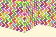 Folded colorful pattern - stock illustration
