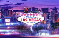 Destination Vegas - stock illustration