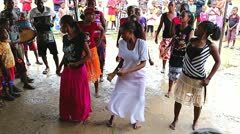 Ritual dance in celebration of nature in Madagascar. Stock Footage