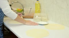 Woman Baking At Home - stock footage