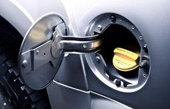 Car gas tank - Car Fueling - stock photo
