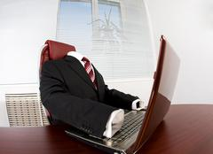 Image of elegant suit without someone in it at workplace Stock Photos