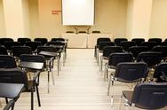 Stock Photo of image of several rows of armchairs in conference hall