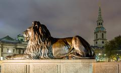 lion in london - stock photo