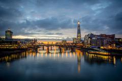 The london skyline Stock Photos