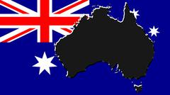 The map, flag of australia Stock Illustration