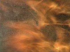 The burning cloth - stock footage