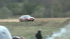 The accident during the rally. Stock Footage