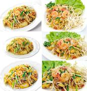Stock Illustration of thai food pad thai , stir fry noodles with shrimp