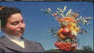 Vintage 8 mm film: Rural thanksgiving, Germany, 1960s Stock Footage