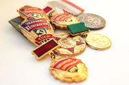 Stock Photo of the soviet medals for valorous work
