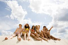image of young people relaxing during vacation - stock photo