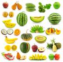 Stock Illustration of fruit collection isolated on white background