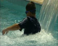 Hotel pool water attraction in southern Cyprus 16:9 PAL Stock Footage