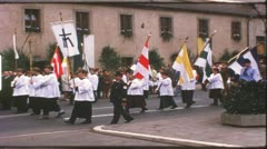 Vintage 8 mm film: Catholic procession, Germany, 1960s Stock Footage