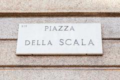 la scala street sign - stock photo