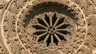 Stock Video Footage of Orthodox Church Rosette XIV Century Close-Up
