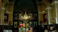 Orthodox Church Wide Shot Tilt Down Stock Footage