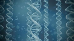 Stock Video Footage of DNA double helix strands genetics human testing. Macro medicine biology