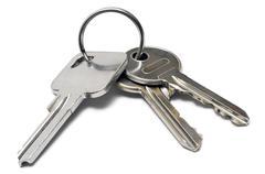 Three Keys on a Ring - stock photo