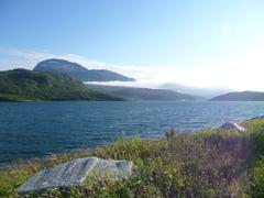 Arctic summer landscape - stock photo
