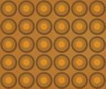 Background of biscuits mandalas Stock Illustration
