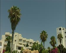 Hotel pool tilt down in southern Cyprus 16:9 PAL Stock Footage