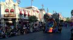 """Mickey's Soundsational Parade"" at Disneyland (Anaheim, California, USA) Stock Footage"