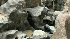 Volcanic Rock Formation 06 Fossil Falls California Stock Footage