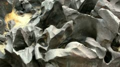 Volcanic Rock Formation 07 Fossil Falls California Stock Footage