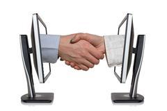 Stock Photo of virtual handshake